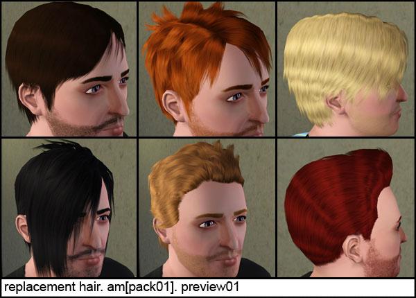 Замена текстур мужских стандартных волос для взрослых и для детей