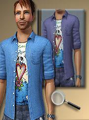 Рубаха для Sims 3