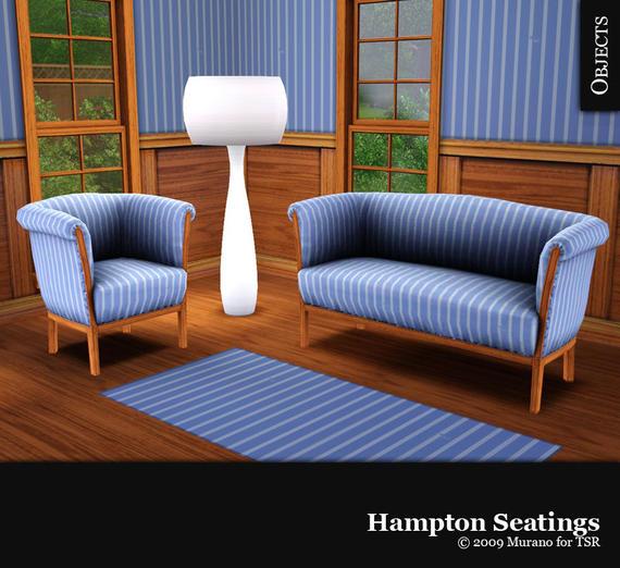 Кресло, диван и ковер для Sims 3